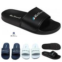 Ben Sherman Summer Super Mens Sliders Flip Flops Slider Shoes Black/Navy/White
