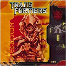 TRANSFORMERS SMALL NAPKINS (16) ~ Birthday Party Supplies Cake Dessert Beverage