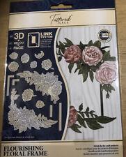 Tattered Lace Flourishing Floral Frame Metal Craft Die - 701303
