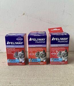 NEW Feliway Multicat  3 Refills For Cats  3  Months For  Ceva Diffuser multi-cat