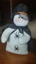Handcrafted Halloween Witch Snowman