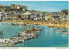 Cornwall Postcard - The Harbour - St Ives - Showing Beach & Houses - Ref AB2678