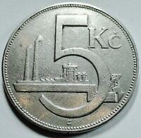 Tschechoslowakei - Czech Republic - 5 Kronen 1925 - ss bisvz / vf - xf erhalten