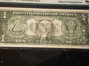 2001 error Boston Fr#1926-A PMG VF25 Printing error front is on back