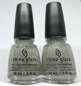 China Glaze Nail Polish * Fairy Dust 551 Fine Holo Silver Microglitter Lacquer