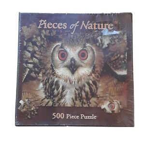 """New Planet Zoo Pieces Of Nature Owl 500 Piece Puzzle 18"""" x 24"""" Soy based Ink"""