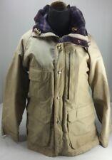 Vintage 1980s Woolrich Women's Insulated Rain Parka Tan Hood USA EUC! Size M