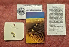 Lapel Pin-Buy 2 Get 1 Free Footprints Laminated Holy Card & Gold-Plated