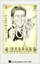 2008-09 Select Cricket Alan Border Medalist Sketch Card BMS1 Glenn McGrath
