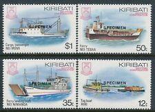 1984 KIRIBATI SHIPPING CORPORATION SET OF 4 FINE MINT MNH specimen OVERPRINT