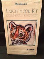 "Tiger Cub Latch Hook Kit Wonderart Caron New Sealed 12"" x 12"""
