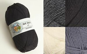 Sockenwolle Strumpfwolle Gründl Wolle zum Stricken Strickwolle schwarz weiss 50g