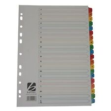 Q-CONNECT 20 PART A4 COLOURED MYLAR TABS A TO Z  DIVIDERS**FAST POSTAGE**