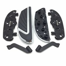 Chrome Airflow Rider Footboard Kit For Heritage Softail/Fat Boy/Road Glide