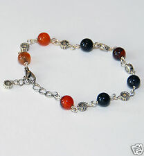 Fancy 8mm Round Agate Gemstone Bracelet With Extendable Chain, fashion, bangle