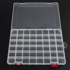 48 Compartments Plastic Fishing Lures Bait Tackle Box Storage Container Case
