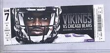 Minnesota Vikings Chicago Bears 12/1/13 Full Unused Ticket...Adrian Peterson