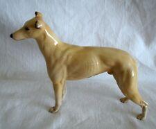 "Vintage Beswick Greyhound Jovial Roger dog porcelain figurine shiny 7"" long"