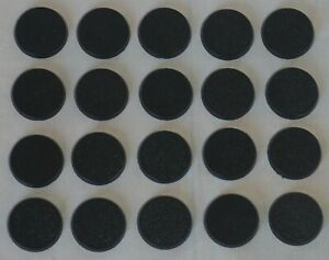 Generic 28mm Black Round Bases (20) Warhammer 40k Age of Sigmar