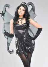Black Gothic Glitter Fantasy Fairy Wings
