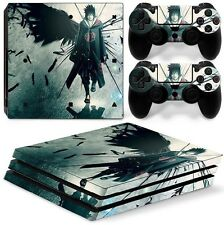 PS4 Pro Skin Sticker Decal Cover 2 Controllers Anime NARUTO UCHIHA 03