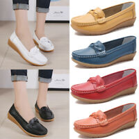 Women's Flats Loafers Sneakers Casual Round Toe Leather Moccasins Driving Shoes