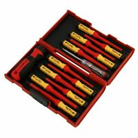 13pc VDE Screwdriver Set Insulated Interchangeable Blade TUV/GS Approved