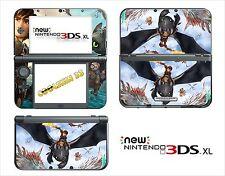 HAUT STICKER AUFKLEBER - NINTENDO NEU 3DS XL - REF 199 DRAGON