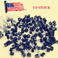 60 PCS Womens Shoe High Stiletto Repair Caps Heel Cap Tip Kit Dowel Pin PU Black
