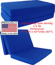 "Queen Size Royal Trifold Floor Foam Beds 4""x60""x80"" Foldable foam Ottoman Bed"
