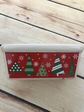 """Decor Christmas Tree Holiday Mini Loaf Size Dish Candy Display Serving 4""""X2"""""""