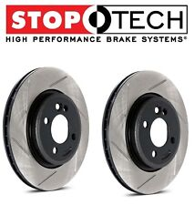 StopTech Set Rear Left Right Slotted Brake Rotors Fits Nissan 370Z Infiniti G37