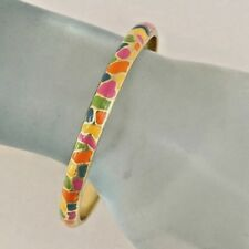 Multicolored Enamel Gold Plated Fashion Jewelry Bangle Bracelet Pretty! #366-D