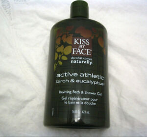 Kiss My Face Shower Gel Bath Birch Eucalyptus Active Athletic Reviving 16 oz NEW