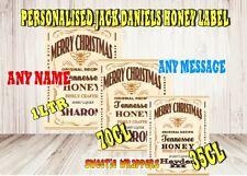 Personalised Bottle Label Whiskey Jack Daniels Inspired Black & Honey Christmas