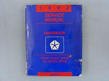 Service Manual, 1993 Chrysler Van/Wagon, Front/All Wheel Drive, 81-370-3105