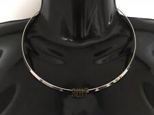 SLUT Collar Solid Neck Band Necklace Jewellery Jewelry Hotwife Slutwife Bronze
