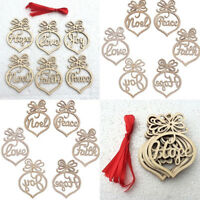 6Pcs Wooden Personalised Ornament Christmas Tree Gift Memorial Decoration Bauble