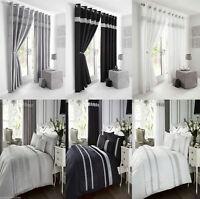 Kimberley Diamante Detail Duvet / Quilt Cover (Set) or Bed Runner or Cushion
