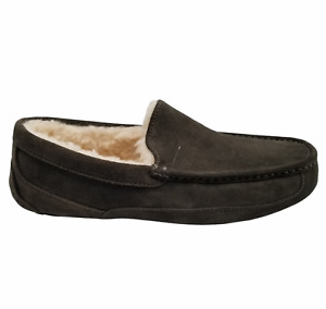 UGG ASCOT Mens Olive Round Toe Water Resistant Moccasin Slippers 11