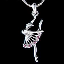 w Swarovski Crystal Purple BALLERINA The Nutcracker Ballet Dancer Chain Necklace
