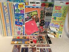 Lot 9 School Boy Birthday Stickers Borders & Kit Scrapbooking Supplies Crafts
