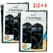4x Travel Dress Bag Hanging Zip Up Garment Carrier Suit Cover Clothes