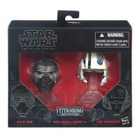 STAR WARS KYLO REN & POE DAMERON TITANIUM SERIES DIE CAST HELMET SET