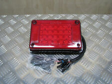 NEW Large 12V/24V 24 LED Red Brake Rear Tail Light Truck Trailer Caravan