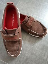 Timberland Boys Suede Boat Shoes Size UK 1