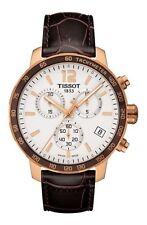 *BRAND NEW* Tissot Men's Rose Gold Steel Leather Strap  Watch T095.417.36.037.00