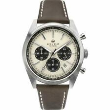 Accurist Mens Chronograph Quartz Watch with Leather Strap 7275