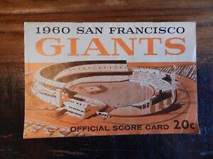 1960 SAN FRANCISCO GIANTS VS ST LOUIS CARDINALS BASEBALL PROGRAM MAYS MUSIAL +