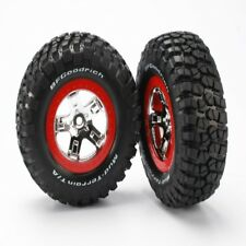 NEW Traxxas Slash 2wd/4x4 Mounted BFGoodrich KM2 Tires/Wheels Rear (2) 5867